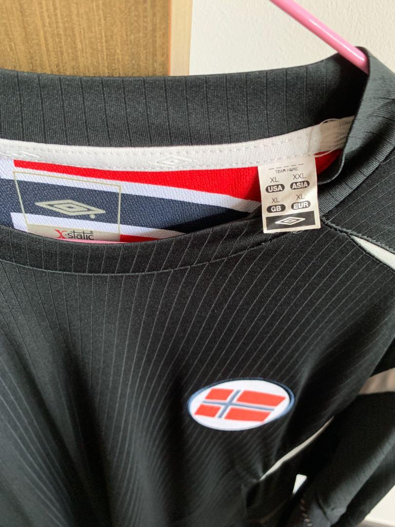 BRAND NEW NO TAGS NORWAY LONG SLEEVE UMBRO SOCCER JERSEY SIZE XXL