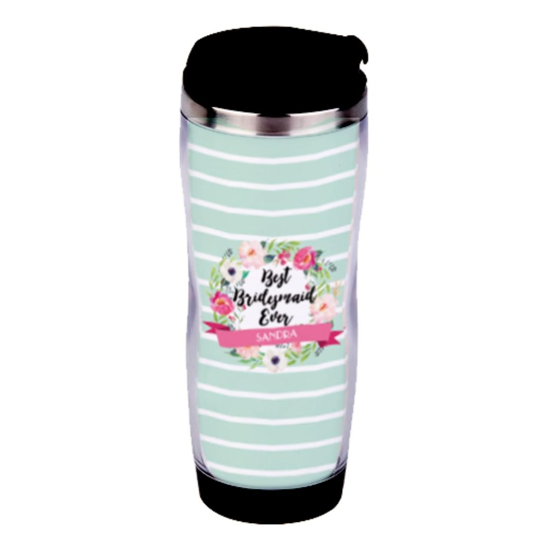 Bridesmaid Gift Water Tumbler Bottle Best Bridesmaid Ever