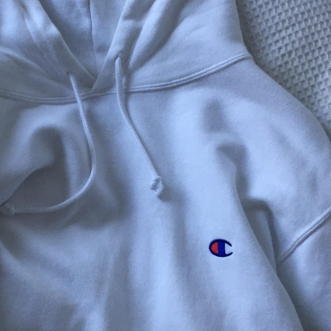 Champion hoodie white