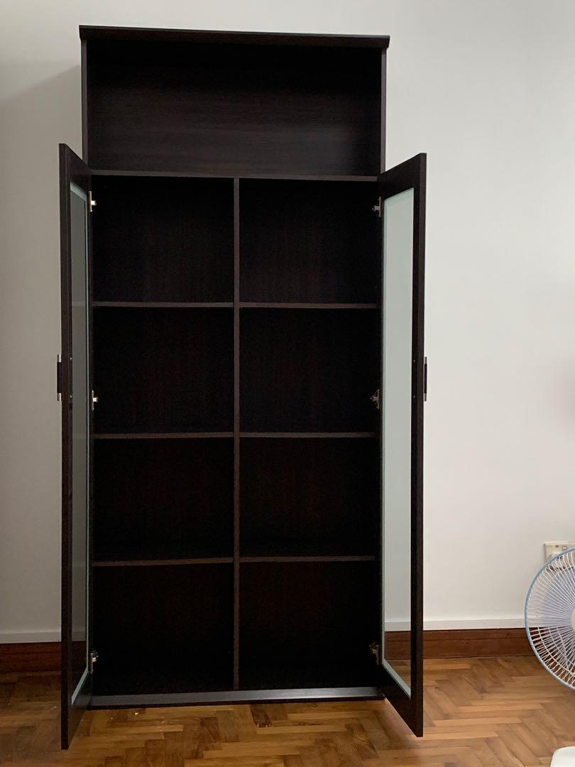 Display Cabinet Bookshelf Dark Brown