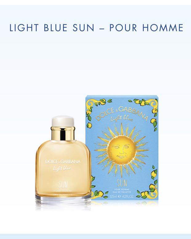 Dolce & Gabbana Limited Edition Light Blue Sun Pour Homme 125 mL (pick up only)