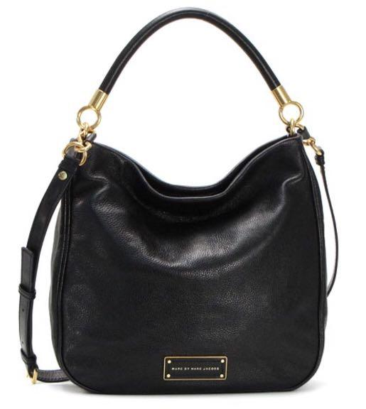 EUC AUTHENTIC MARC BY MARC JACOBS TOO HOT TO HANDLE LEATHER HOBO BLACK