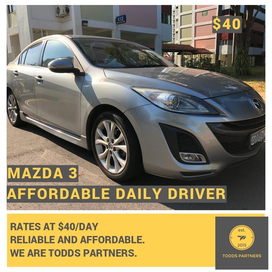 For Grab/GoJEK - Mazda 3