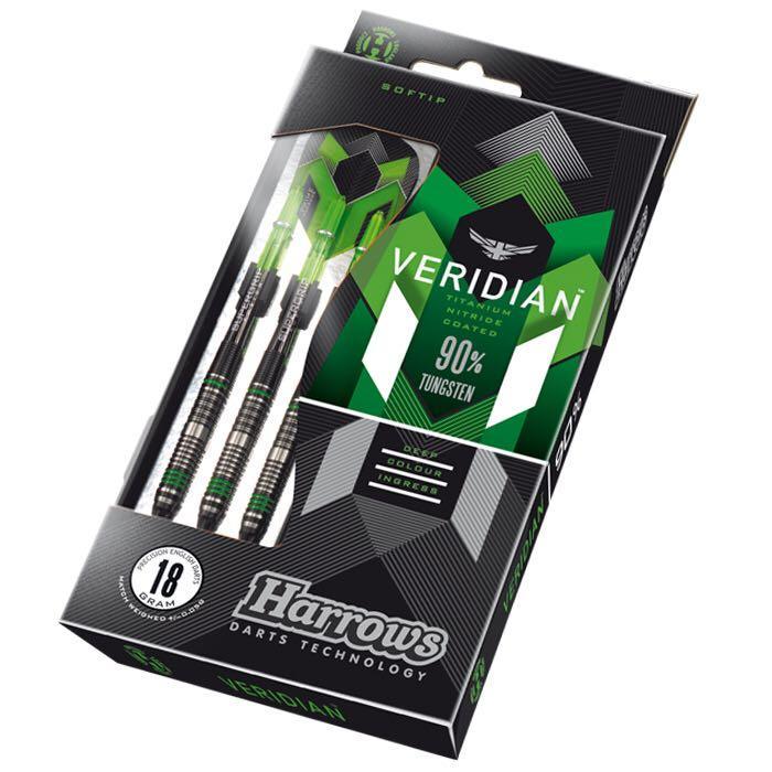 Harrows Veridian • 90% Tungsten • Soft Tip Darts • SGDARTS