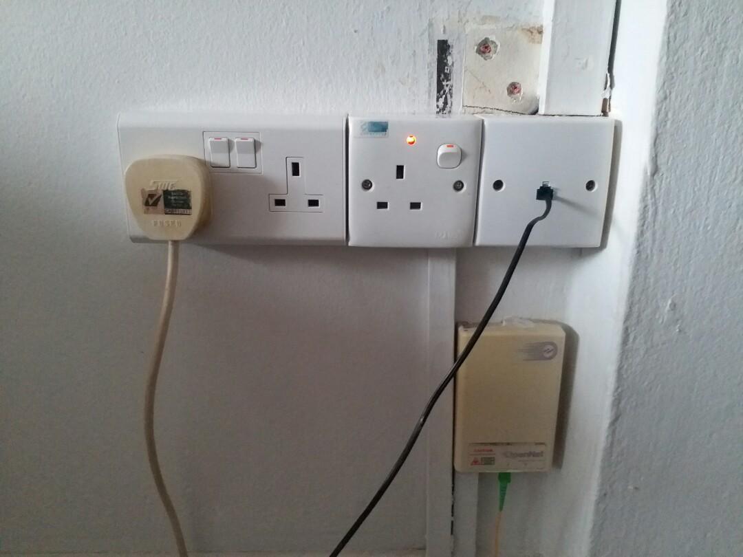 install light fan, wiring