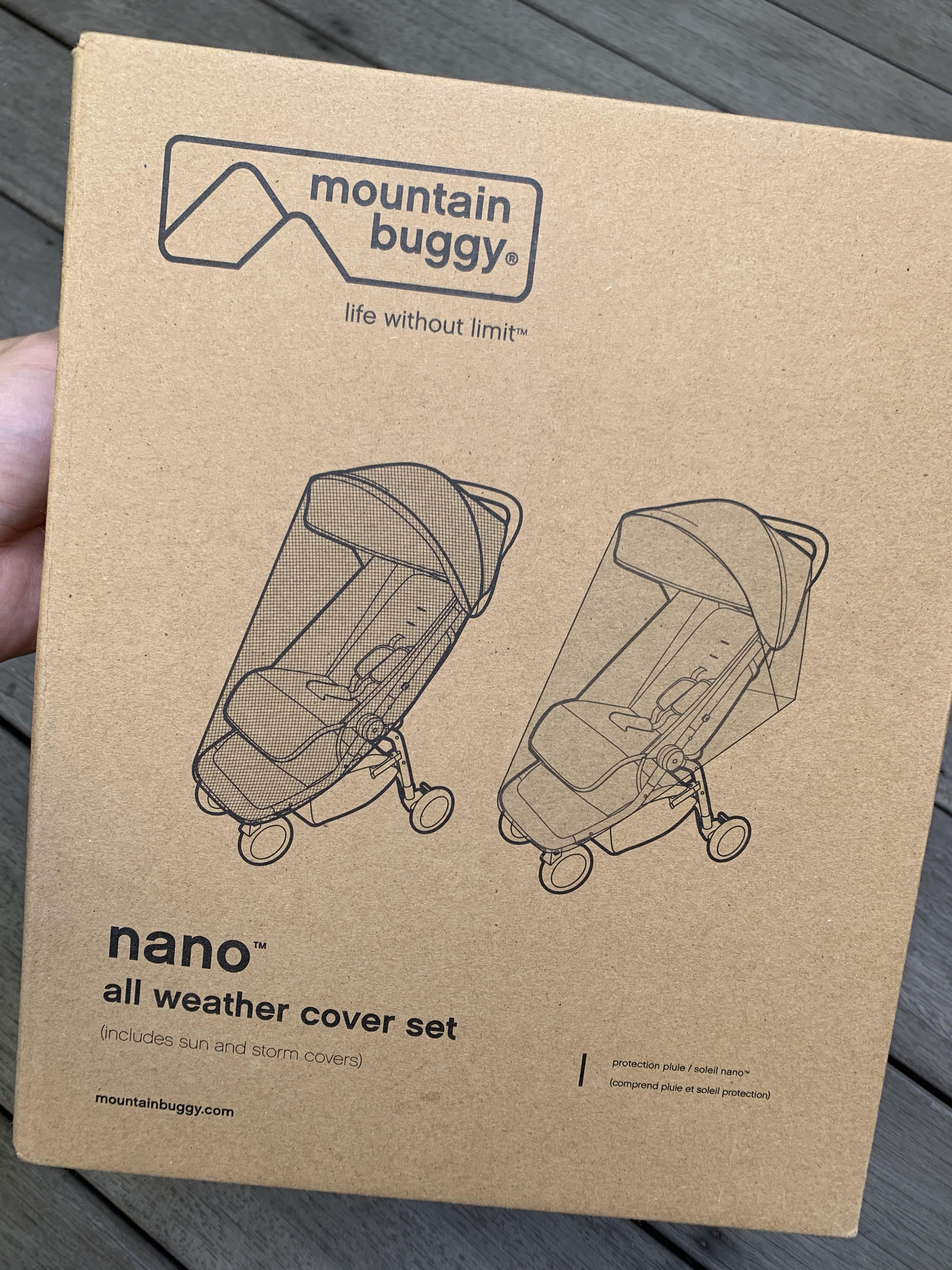Mountain Buggy Swift All Weather Cover Set Sun /& Storm