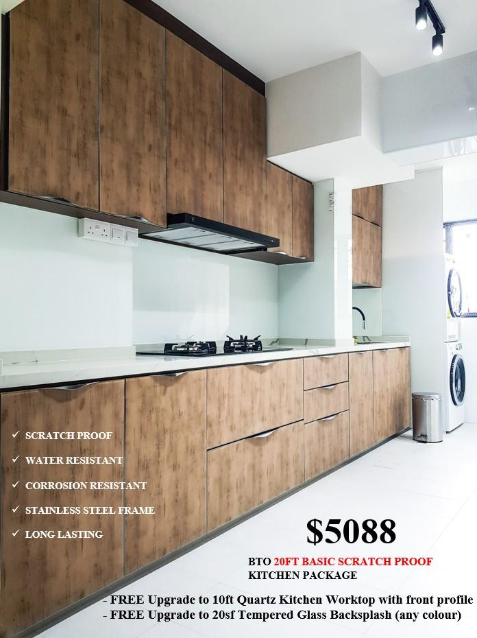 SCRATCH PROOF AND WATERPROOF VICTORIAN KITCHEN CABINET PACKAGE