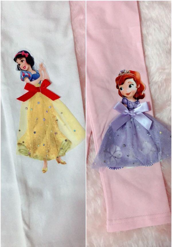 Snow White and Princess Sofia leggings.