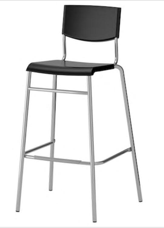 Tall Black and Silver Counter Chairs (1 for $15 or 2 for $20)