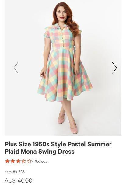 Unique Vintage Pastel Swing Dress — BRAND NEW WITH TAGS