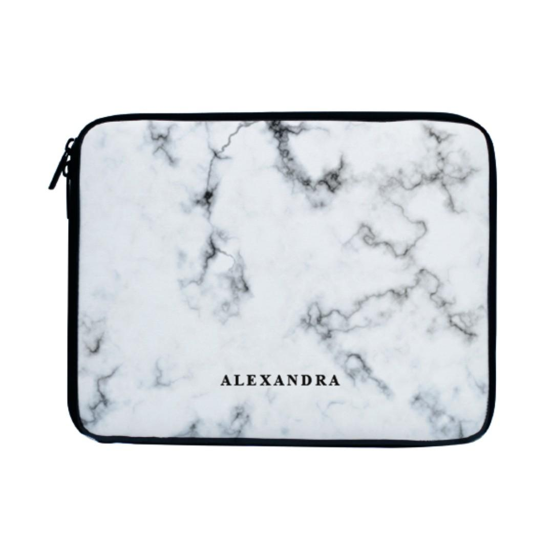 White Marble Laptop Sleeve Case Bag Mac Acer Asus