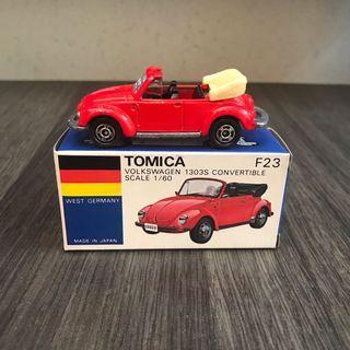 Tomica Tomy 日本製造 青盒 青箱 F23 Volkswagen 1303S convertible 開縫跑車 法拉利 tomytec TLV