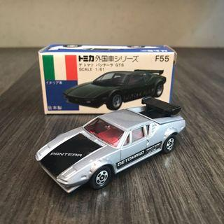 Tomytec Tomica Tomy 青箱 青盒 F55 外國車 Japan 日本製造 De Tomaso Pantera GTS 跑車 Ferrari GTB Lamborghini
