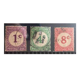 Malaya 1924-26 Straits Settlements Postage Due 3V Used Q208