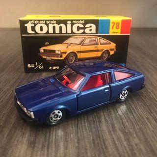Tomica Tomy Tomytec 日本製造 黑箱 黑盒 Japan no. 78 Corolla Levin 86 Toyota AE86