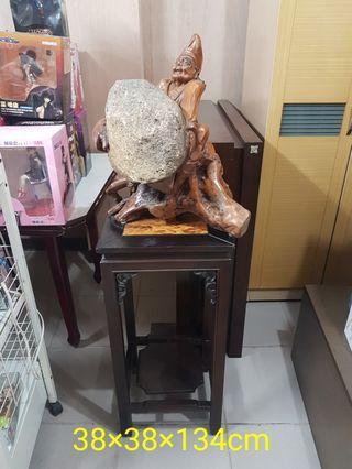 二手濟公抱石+藝品台