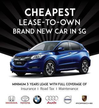 🔥CHEAPEST LEASE-TO-OWN CAR IN SG GUARANTEED🙏💯