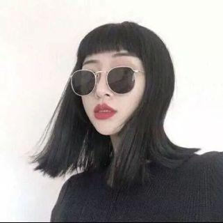 個性復古小框黑片眼鏡