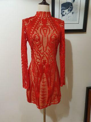 Peace and love lace dress