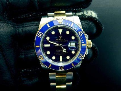 PREOWNED ROLEX SUB-MARINER, 116613 LB, Rolesor, 18Ct Yellow Gold and  Oystersteel, 40mm, Alphanumeric Series @ Year 2015 Mens Watch