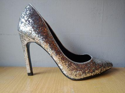 Basically new silver heels.