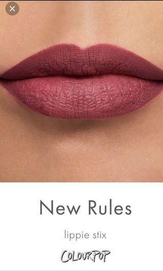Colourpop lippie stix in new rules
