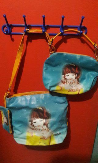 3 in 1 Bag ( tas tote besar, tas selempang, dompet)
