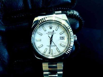 PREOWNED ROLEX Datejust 2, 116334 White Rolesor, Oystersteel and White Gold, 41mm, Alphanumeric Series @ Dated Dec 2015 Mens Watch