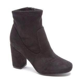 black suede heel ankle boots