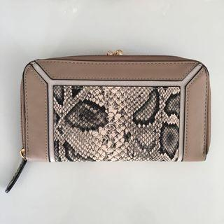 snake print wallet