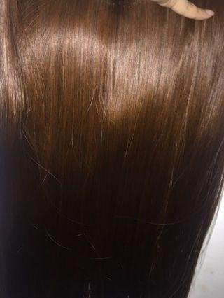 Brown clip in hair extension (brand new in stock)