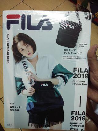 Japan magazine with fila sling bags