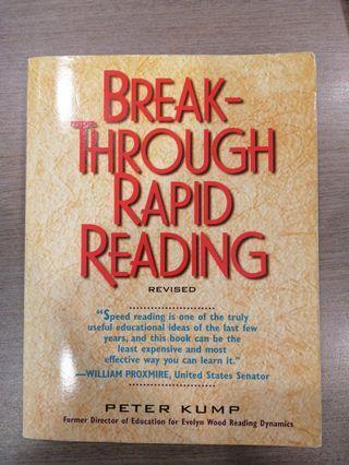 Break-Through Rapid Reading by Peter Kump