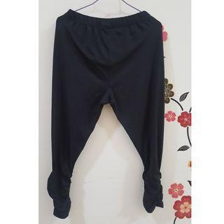 抗UV100涼感彈力美腿內搭褲全新黑色XL