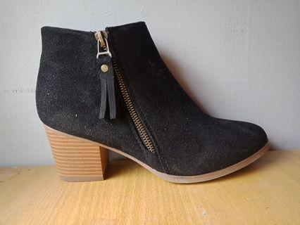 Brand new black ankle boots.