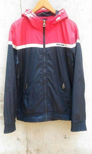 Jaket Polham windbreaker not the north face uniqlo