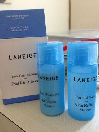 Laneige Trial Kit moisturizer