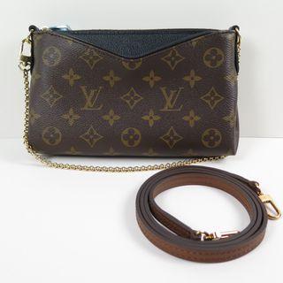 Louis Vuitton Monogram Palas Clutch Noir M41639