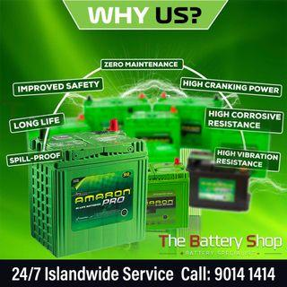 Best On-site 24Hr Car Battery Replacement Service Singapore - Amaron Car Battery