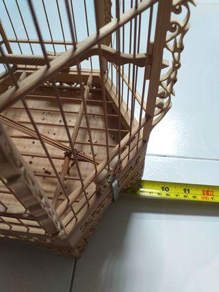 9 inch hexagon puteh/finch cage