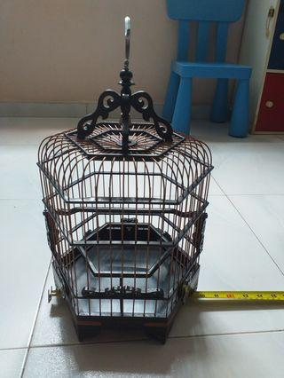 10 inch puteh/finch hexagon rosewood cage
