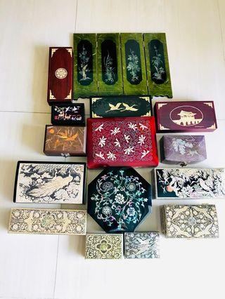 Korean Lacquer Wares Inlaid With Mother-of-Pearl