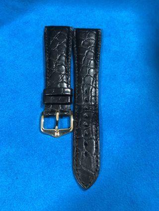 Hirsch Régent Leather Black 20mm.