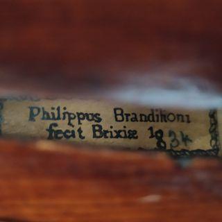 Philippus Brandilioni fecit Brixise 1834