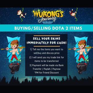Buying Dota 2 Arcana and Items