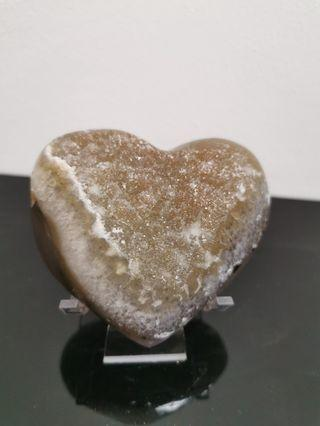 Heart shape amethyst Crystal ZYH 01