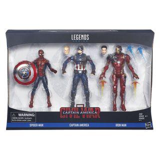 🚚 Captain America 6 inch legends 3 pack