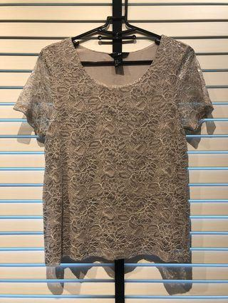 H&M Lace Overlay Top
