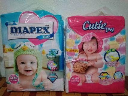 Pampers 2 new packages plus 50 pcs open.