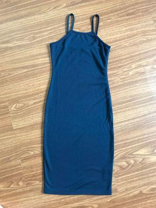 Zalora Basics Navy Bodycon Dress